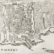 Old map of Palermo, Italy — Stock Photo #13290464