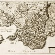 Syracuse old map — Stock Photo