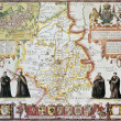 Cambridgeshire old map - Foto de Stock