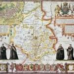 Cambridgeshire old map — Stock Photo