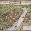 Frankfurt old map — Stock Photo #13290824
