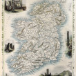 Ireland old map — 图库照片