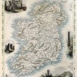 ancienne carte d'Irlande — Photo
