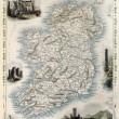 アイルランドの古地図 — ストック写真