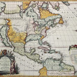 Stock Photo: North America old map