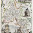 Oxfordshire map - Stock Photo