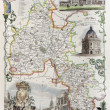 Oxfordshire map — Stock Photo