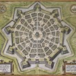 Palmanova old map — Stock Photo