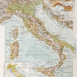 Постер, плакат: Italy physical map