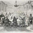 Stock Photo: Banquet in Batavia