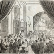 Stock Photo: Vincennes asylum inauguration