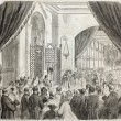 Vincennes asylum inauguration — Stock Photo