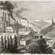 Aubin forging mills - Stock Photo