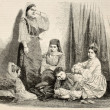 Stock Photo: Jewess family in Algiers