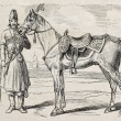 Persian Shah&#039;s horse - Stock Photo