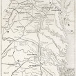 American civil war theater old map. — Stock Photo #13295887