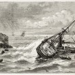 Stock Photo: Jourdain shipwreck