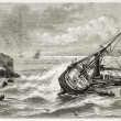 Jourdain shipwreck — Stock Photo