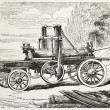 Stockfoto: Traction engine saw