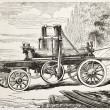 Stock Photo: Traction engine saw