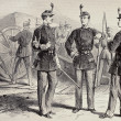 French National Guard uniforms — Stock Photo