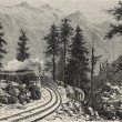 Mont Cenis Railroad — Stock Photo