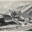 Stock Photo: Mont Cenis railway station