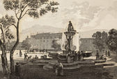 Palazzo d'Orleans Fountain — Stock Photo