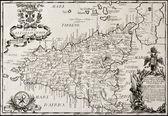 Mappa del regno di sicilia — Foto Stock