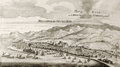 Messina and Etna old map — Stock Photo