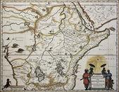 Ethiopia old map — Stock Photo