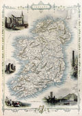 Ireland old map — Stock Photo