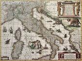 Vecchia mappa italia — Foto Stock