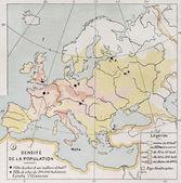Europe population density — Stock Photo
