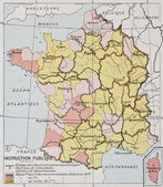 France education map — Stock Photo