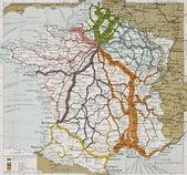 French railways — Stock Photo