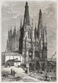 Katedrála v burgosu — Stock fotografie