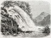Calcaggia falls — Stock Photo