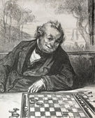 Draughts player — Stock Photo