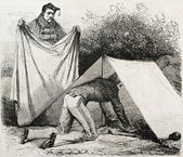 Shelter tent — Stock Photo