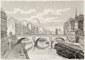 Pont Saint-Michel — Fotografia Stock