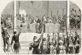 条约签署 — 图库照片