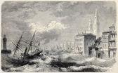Bastia shipwreck — Stock Photo