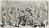 Boxing brawl — Stock Photo