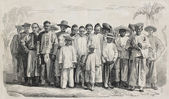 Chinese immigrants — Stock Photo