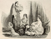 Jewess family in Algiers — Stock Photo