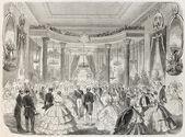 Aristocratic dancing — Stock Photo
