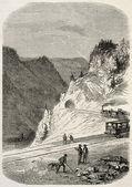 Ferrovia svizzero-francese — Foto Stock