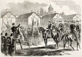 Napoleon III in Chalons camp — Stock Photo