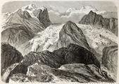 Tiefenbach glacier — Stock Photo